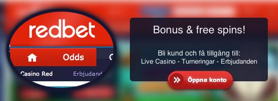 Hämta bonus hos Redbet