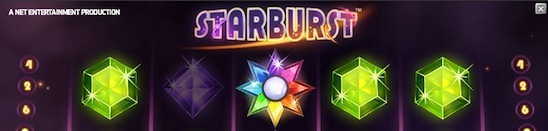 Populära sloten Starburst från Net Entertainment