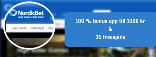 Besök NordicBet för att ta del av bonusarna